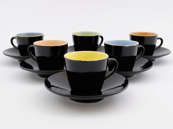 set of colourful coffee cups