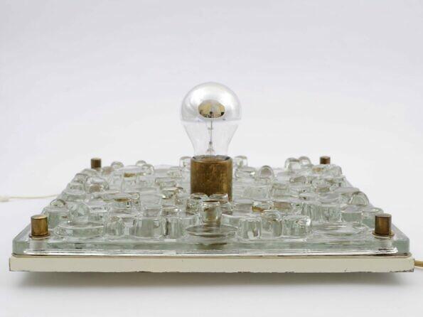 Lampa Kinkiet N-Leuchten z grubego szkła