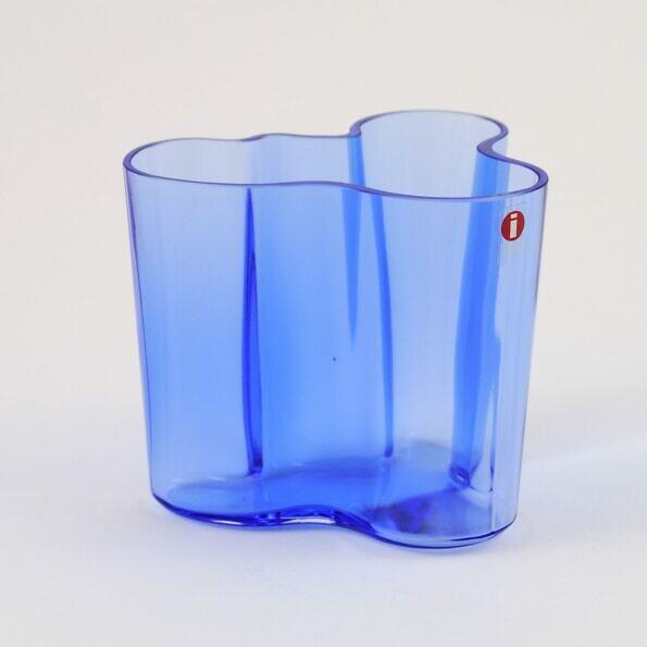 Wazon Iittala Savoy niebieski