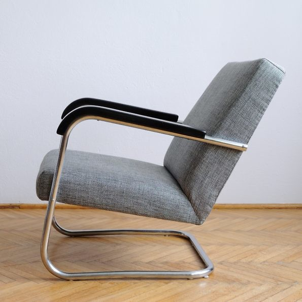 Fotel Slezak w stylu Bauhaus jak Mucke Melder Thonet