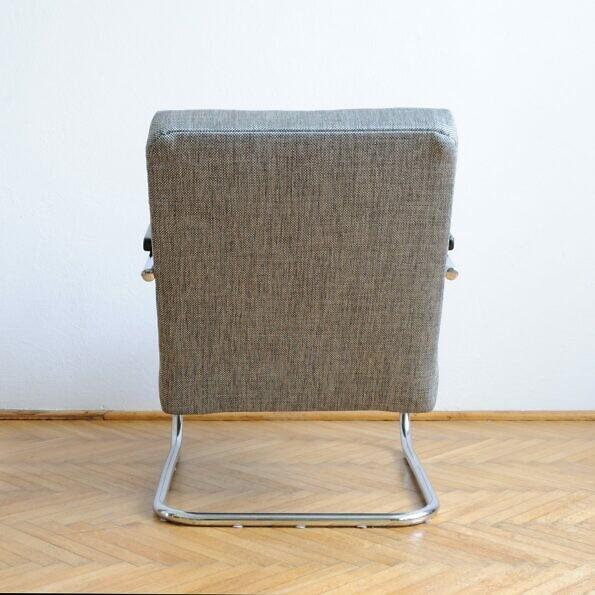 Slezak przedwojenny fotel z rur