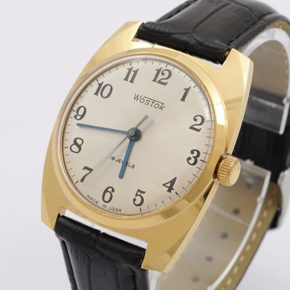 wostok gold plated watch