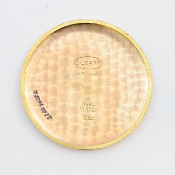 Złoty dekielek zegarka Doxa 14k 0,585