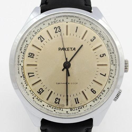 Zegarek mechaniczny Rakieta 24h world time z mechanizmem 2623H