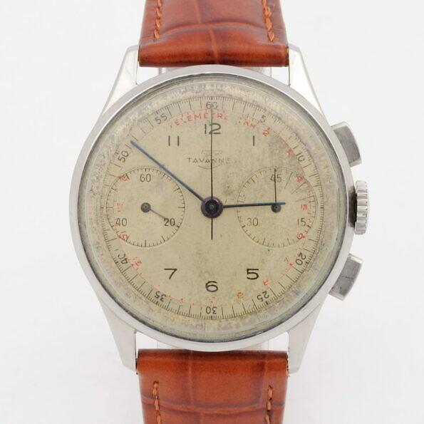 Tarcza zegarka Tavannes Cyma chronograf venus 165