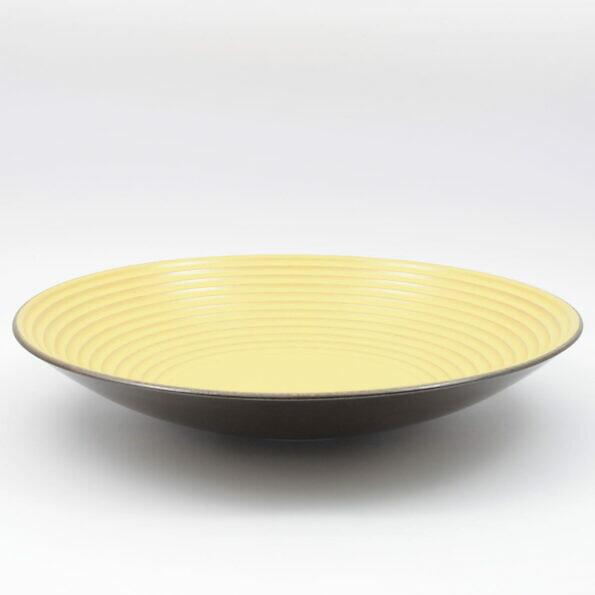żółto brązowy talerz Carstens 1002