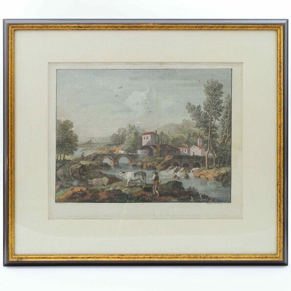 Grafika pejzażowa XVIII wiek Francesco Zuccarelli