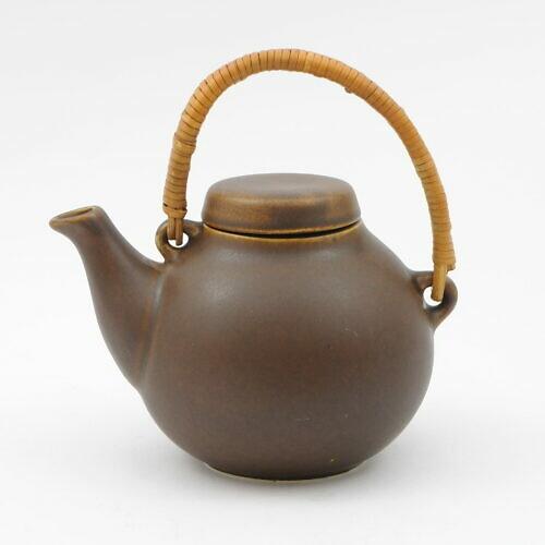 Brązowy ceramiczny imbryk GA, projekt Ulla Procopé, Arabia, lata 60.