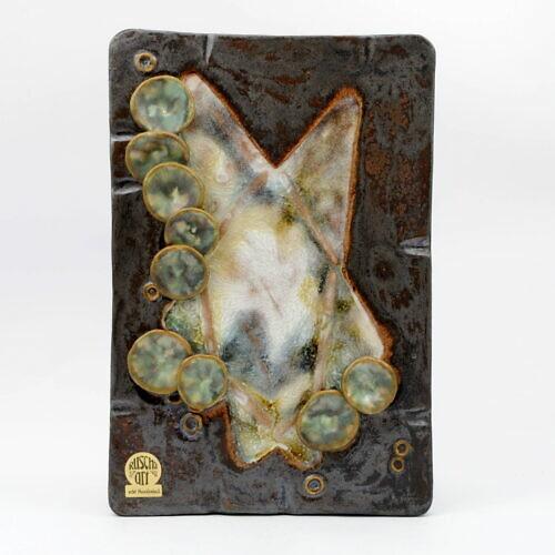 Ceramiczna płaskorzeźba fat lava, Ruscha Art, lata 70.