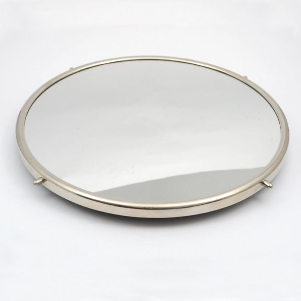 Duża taca obrotowa z lustrem, lata 60.