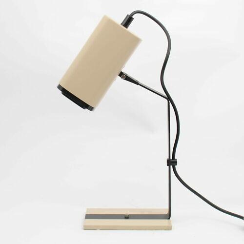 Aluminiowa lampa biurkowa z lat 70. XX w.