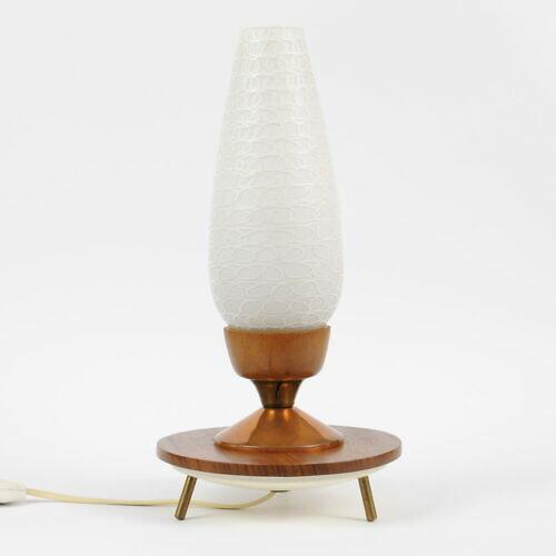 Lampa stołowa na nóżkach w stylu mid-century modern