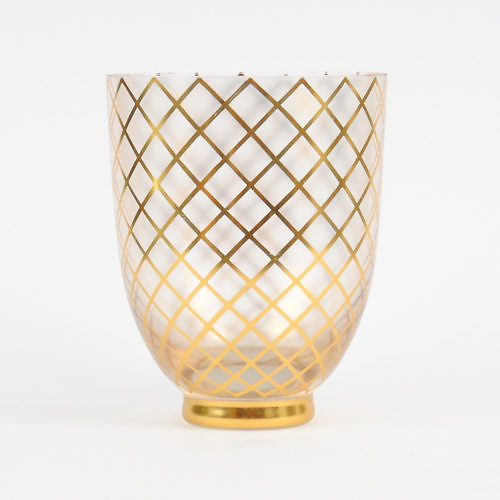 Złocony wazon art deco, Gebrüder Podbira, Czechosłowacja lata 30.